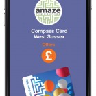 Mobile phone showing Compass Card app